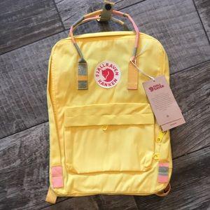 Fjallraven Kanken Backpack Yellow Random Blocked